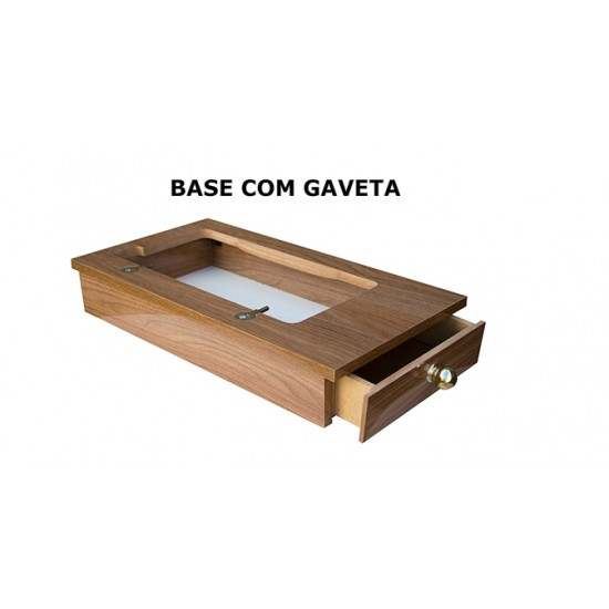 Base Portátil com Gaveta Lateral Cor Italian Noce Rio Verde