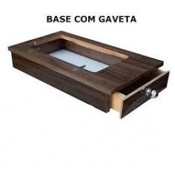 Base Portátil com Gaveta Lateral Castanho Escuro Rio Verde